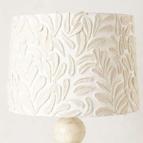 anthropolgie fallen fronds lampshade