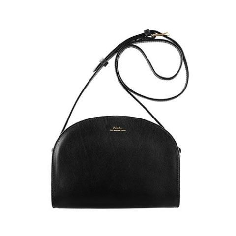 a.p.c. half moon bag in black