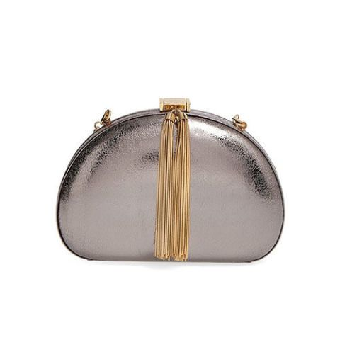 ted baker london tassel clutch bag in gunmetal and gold