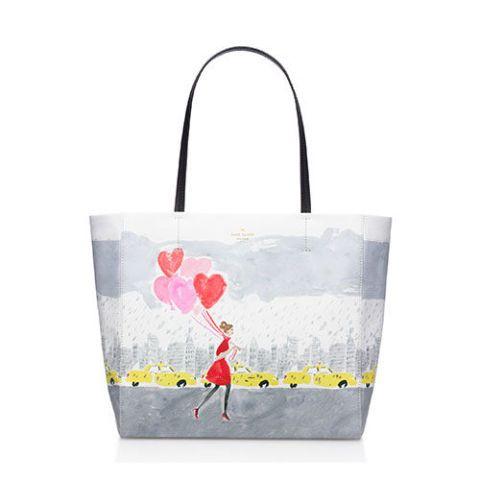 kate spade secret admirer balloon hearts hall tote bag