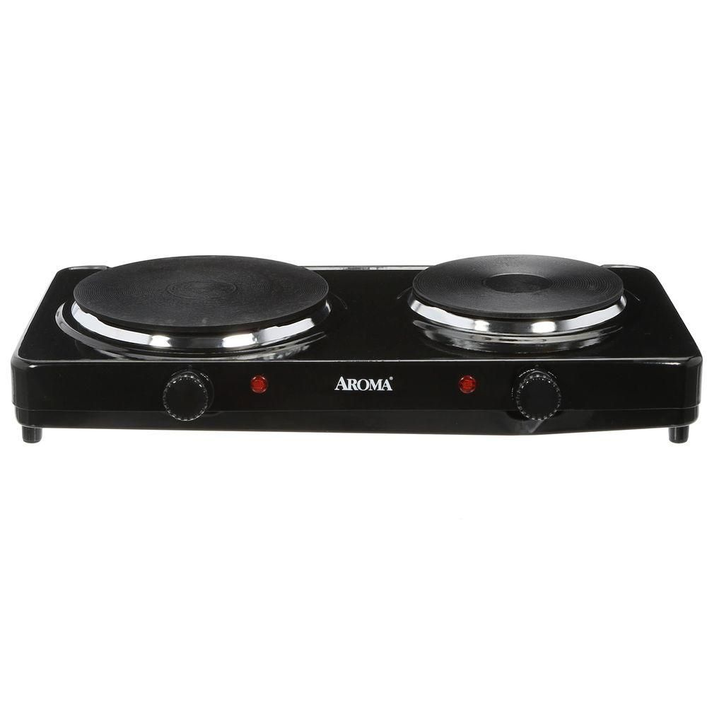 Aroma Double Burner Diecast Hot Plate