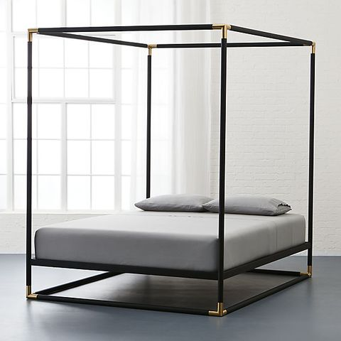 cb2 frame canopy king bed
