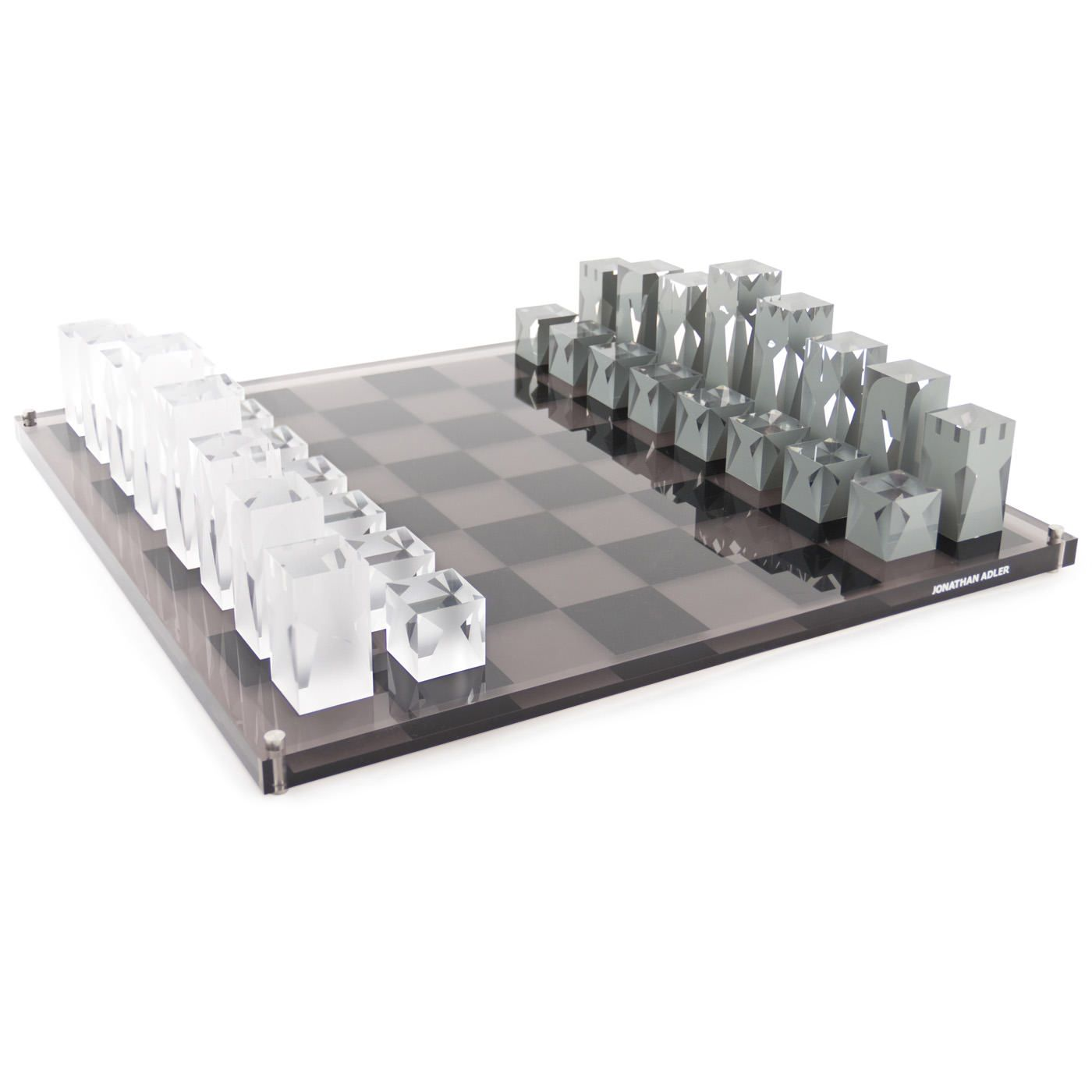 modern decor lucite chess jonathan adler