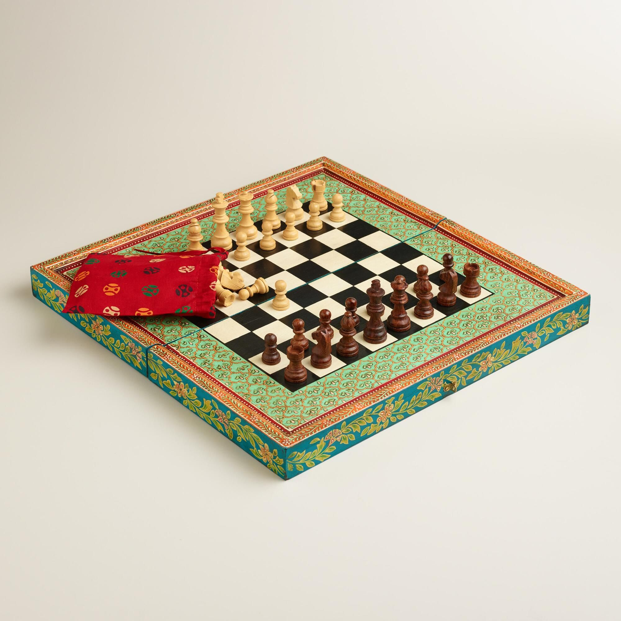 Worldmarket Hand Painted Chess Set
