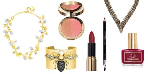 Olivia Palermo makeup, jewelry and accessories