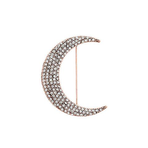 topshop crystal moon brooch