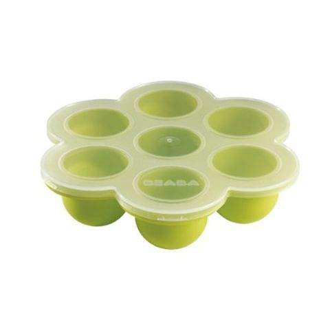 beaba multiportion baby food freezer tray green