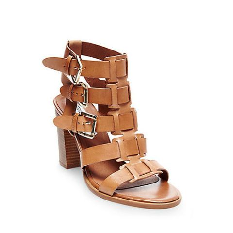 steve madden pinar gladiator sandals in cognac leather