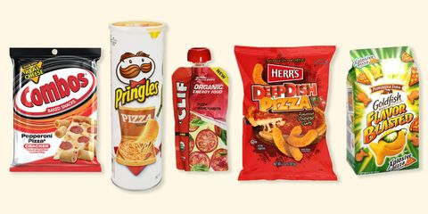 pizza flavored snacks