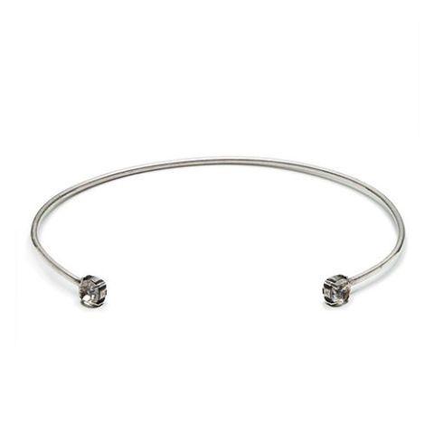 dannijo iman crystal collar necklace silver