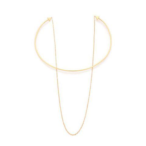 gorjana irene chain collar necklace in gold