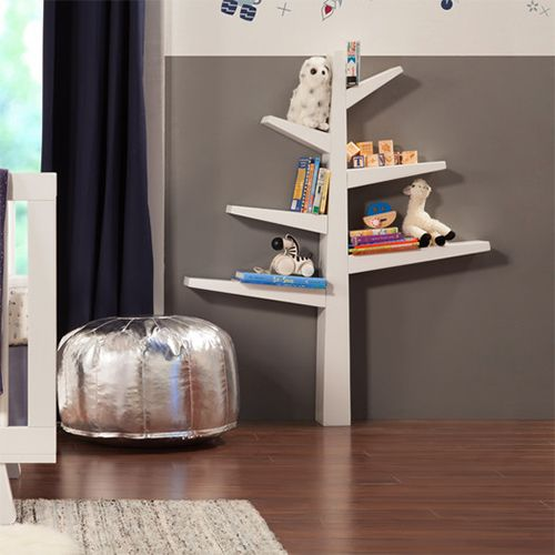 babyletto spruce tree bookcase white