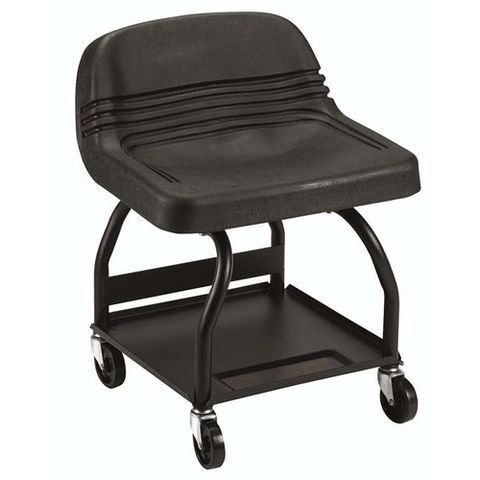 "<p><strong><em>$100, <a href=""http://www.sears.com/craftsman-creeper-seat-mechanics-high-rise/p-00951108000P?prdNo=2&blockNo=2&blockType=G2"" target=""_blank"">sears.com</a></em></strong></p><p>Though significantly more expensive than our first option, this creeper seat from Craftsman earns points for its tubular construction and increased seat support. Unlike the u-shaped frame from the previous slide, it is less likely to bend or flex over time.</p>"