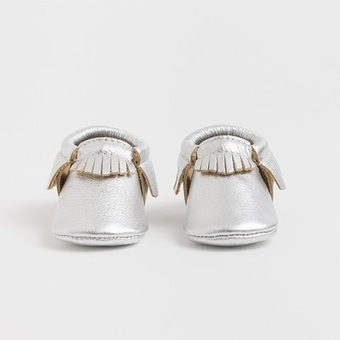 freshly picked chrome moccasins
