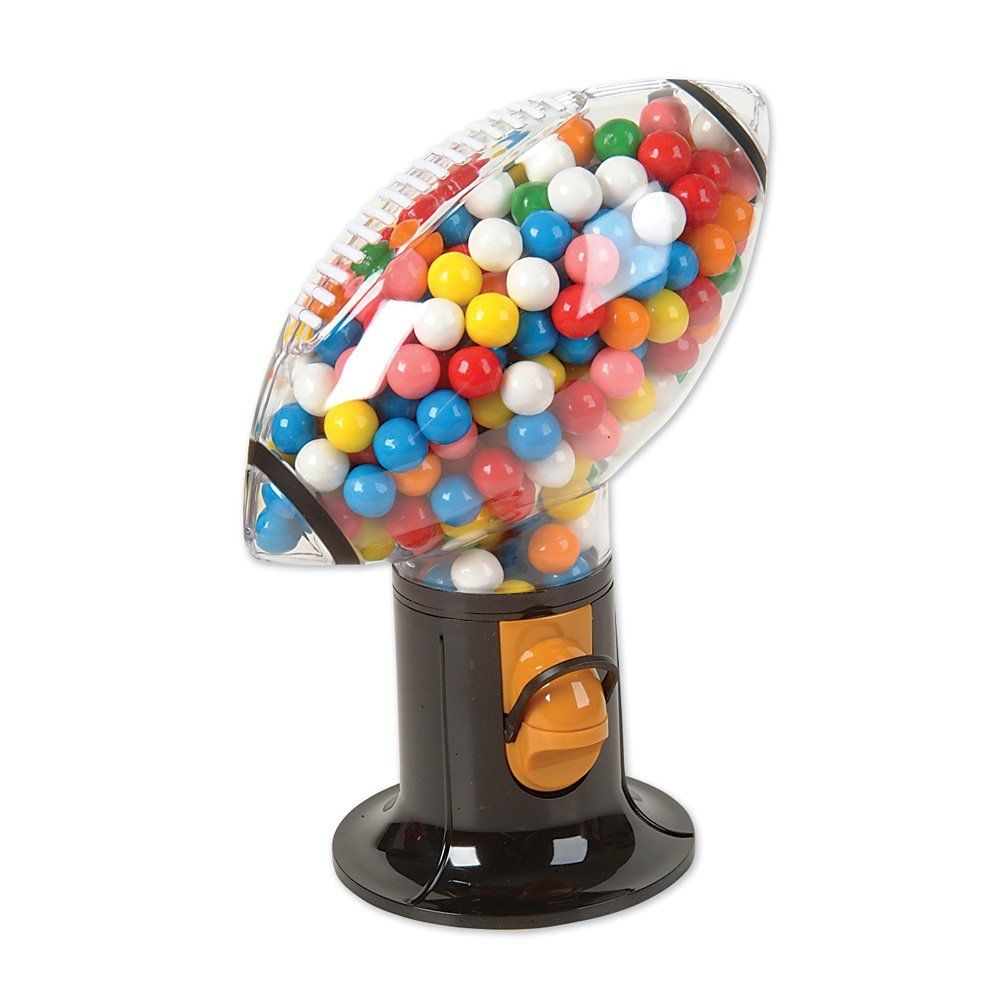"<p><strong> <em> $11, <a href=""http://www.bestbuy.com/site/grand-star-football-snack-dispenser-black-red-clear/8575327.p?id=1219693611455&skuId=8575327 "" target=""_blank"">bestbuy.com</a></em></strong></p><p><strong>Best for Sports Fanatics </strong></p><p>Score the winning touchdown, time and time again, when you dive into this football-shaped candy dispenser's sweet snacks. Plus, its tough, plastic construction makes this unit a lightweight, durable option. </p>"