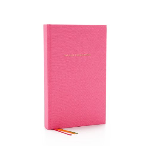 kate spade new york eat cake for breakfast lined journal pink