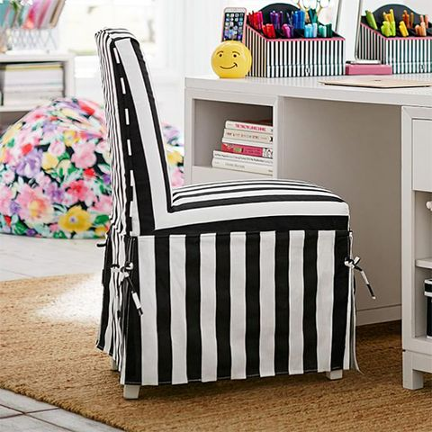 maybaby slipcover desk chair black and white stripes