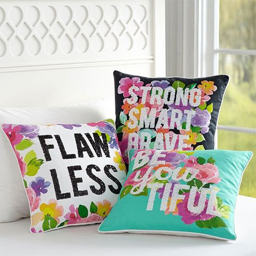 pbteen maybaby flower power pillow covers