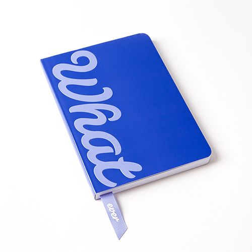 papyrus whatever ribbon journal blue