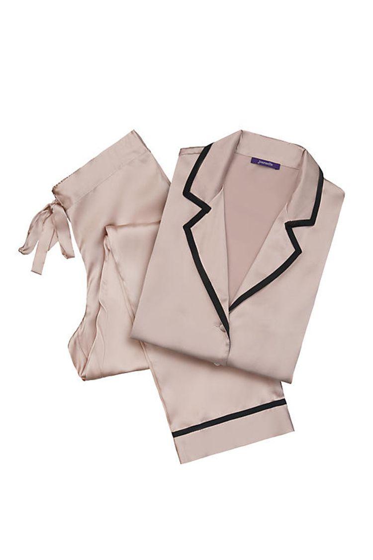 journelle garbo pj set in blush silk