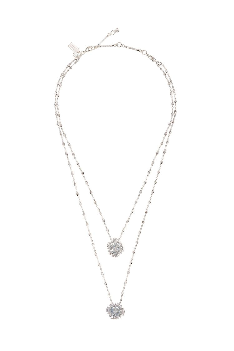 kate spade new york sweet nothings double layered crystal pendant
