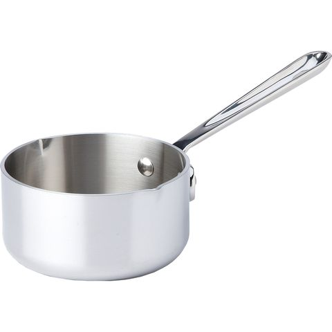 "<p><strong> <em> $70, <a href=""http://www.chefsresource.com/all-clad-stainless-butter-warmer.html?gclid=CPOdvrSr_8oCFZMWHwodp5kCOw "" target=""_blank"">chefsresource.com</a></em></strong></p><p><strong>Best for Premium Versatility </strong></p><p>Bigger than standard butter warmers, this pan provides enough capacity to serve large parties. Despite having the highest price tag, the unit maintains a simple and straightforward design making it easy to pour from tableside. It's also capable of reheating sauces and small amounts of liquids in case butter is not <em>all </em>you're cooking up.</p><p><strong>More:</strong> <a href=""http://www.bestproducts.com/eats/tabletop/g1044/paper-towel-holders-dispensers/"" target=""_blank"">Paper Towel Holders to Wipe Your Buttery Hands Off in Style</a><br></p>"