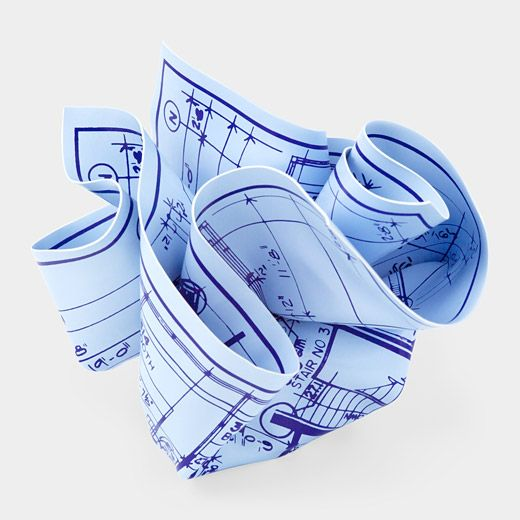 moma Architects Blueprint Paperweight