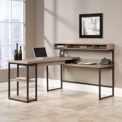 Sauder Salt Oak L Shaped Desk