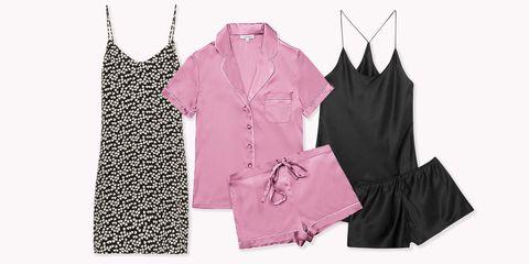 womens silk pajamas