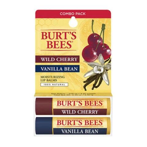 Burt's Bees Wild Cherry/Vanilla Bean Lip Balm Twin Pack
