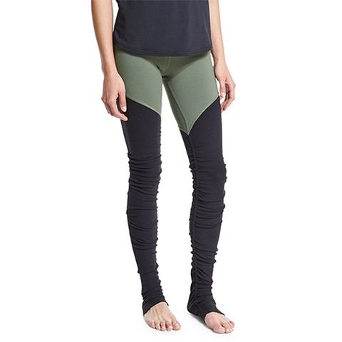 Alo Yoga Goddess 2 Colorblock Ribbed Sport Leggings