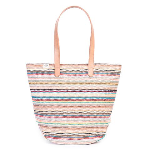 "<p><strong><em>$80, </em></strong><strong><em><a href=""http://shop.herschelsupply.com/products/auden-tote-womens-daybreak"" target=""_blank"">herschelsupply.com</a></em></strong></p><p>The Auden tote is perfect for everyday use. Its colorful woven finish is easy to match, and the spacious interior has tons of room for all your necessities. Vegetable-tanned leather handles are designed with extra length so it fits comfortable on your shoulder.</p>"