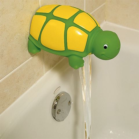 one step ahead turtle bathtub faucet cover green and yellow