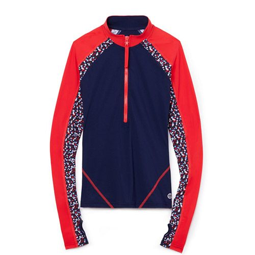 Tory Sport Women's Front Zip Rash Guard