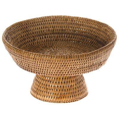 wayfair kouboo La Jolla Pedestal Rattan Fruit Bowl