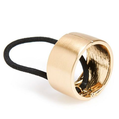 l. erickson cuff ponytail holder gold