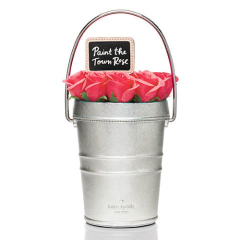 kate spade new york pink rose pail handbag