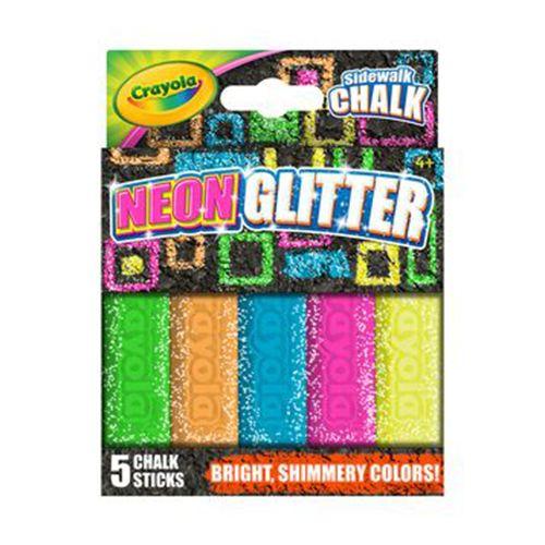 crayola neon glitter sidewalk chalk 5 count