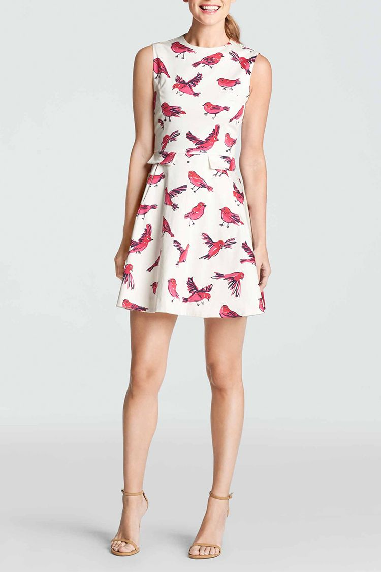 draper james tweet tweet dress in pink