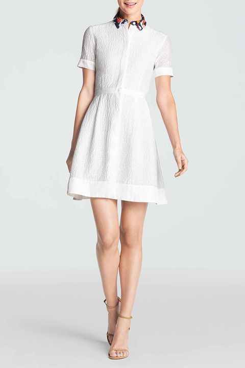 draper james acklen shirtdress in white