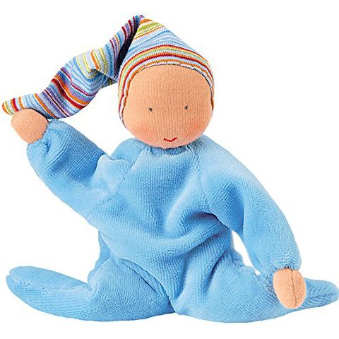 kathe kruse nickibaby light blue doll