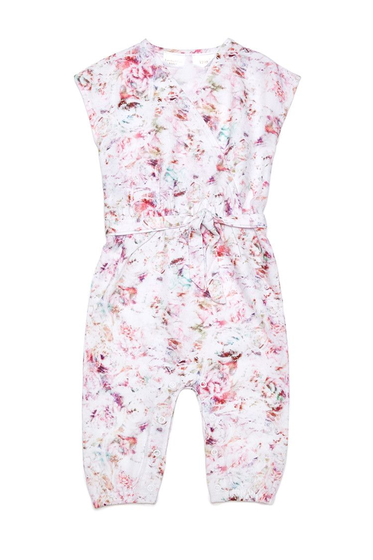 Kardashian Kids Girls Floral Jumpsuit