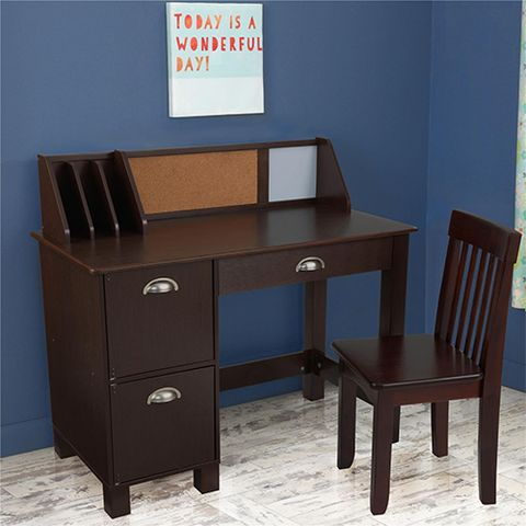 Kidkraft Study Desk With Side Drawers And Chair