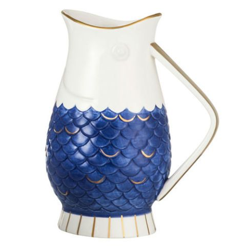 threshold Stoneware Fish Pitcher