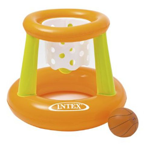 intex floating hoops basketball game orange and green