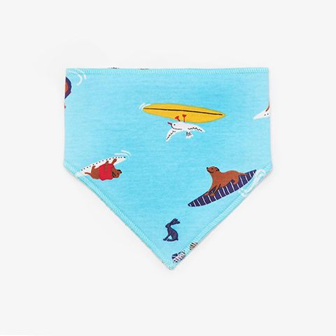 joules bibby reversible dribble bib surfing dogs
