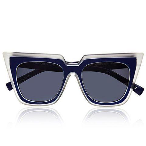self portrait le specs wayfarer sunglasses in blue