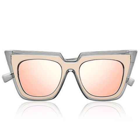 self portrait le specs wayfarer sunglasses in blush