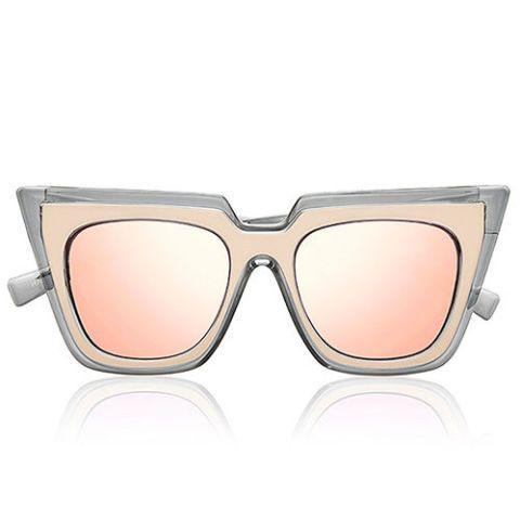 self portrait le specs wayfarer sunglasses in blush
