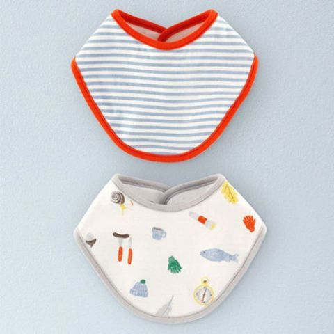 Mini Boden 2-Pack Dribble Bibs